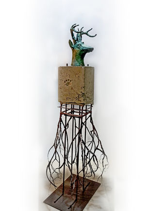 Habitat by Rohan Pawar, Conceptual Sculpture | 3D, Brass,Cement,iron,concrete, Iron color