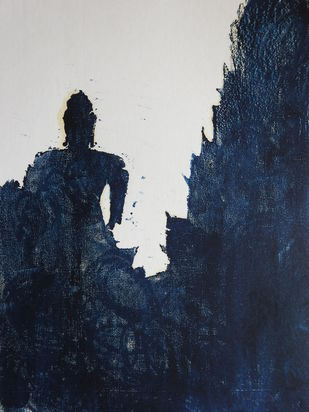 BUDHDH by KAJAL PANCHAL, Expressionism Printmaking, Watercolor on Paper, Mirage color