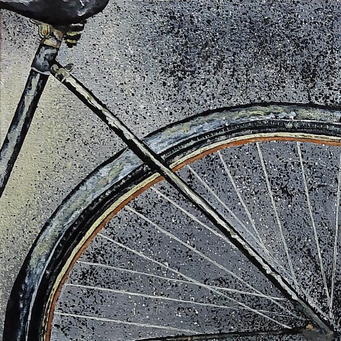 Vintage Cycle 01 Digital Print by Tejal Bhagat,Expressionism