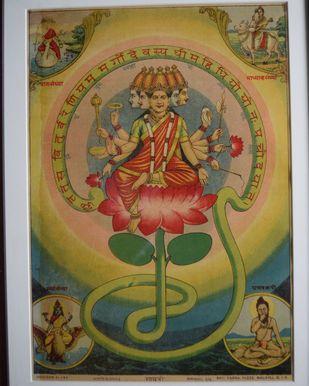 Gayatri(1/1) by Raja Ravi Varma, Traditional Printmaking, Lithography on Paper,