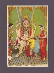 Narsimha(1/1 by Raja Ravi Varma, Traditional Printmaking, Lithography on Paper, Ferra color