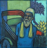 WAIT by Ram Kumar Maheshwari, Expressionism Painting, Acrylic & Ink on Canvas, San Juan color