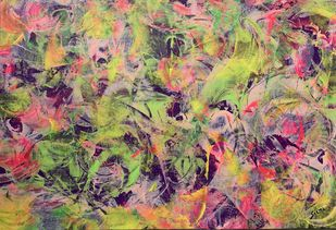 Innocent Love by Seema Kaushik, Abstract Painting, Acrylic on Acrylic Sheet, Sandal color