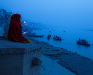 secluded by Anirban Ghosh, Image Photography, Print on Paper, Navy Blue color
