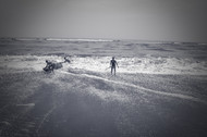 Struggle by Anirban Ghosh, Image Photography, Print on Paper, Gray color