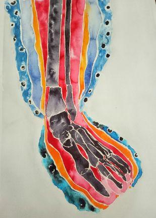 BREAK UP by subhashini vutla, Abstract Painting, Mixed Media on Paper,