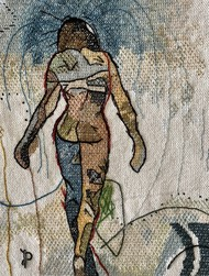 NUDE AESTHETICS PB/NA - 34 by Puja Bhakoo, Expressionism Textile, Stitching on Cloth , Nomad color