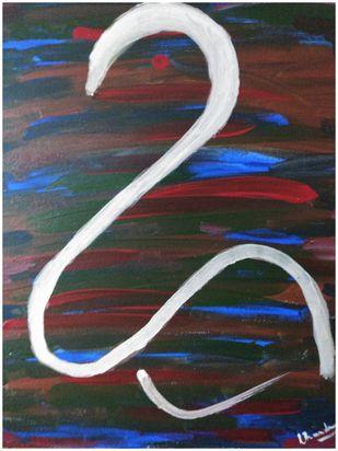 ADVAITA by Chandra Tatvaraj, Abstract Painting, Acrylic & Graphite on Canvas, Masala color
