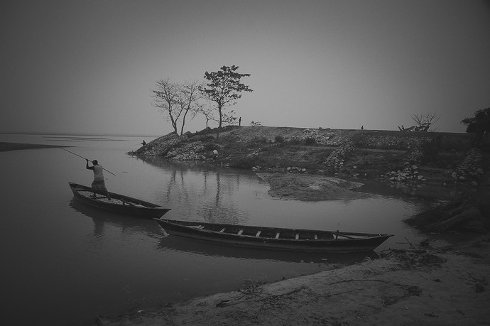 Calmness by Anirban Ghosh, Image Photography, Print on Paper, Mine Shaft color