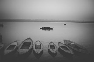 Horizon by Anirban Ghosh, Image Photography, Print on Paper, Silver Chalice color