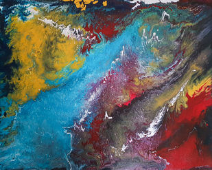 Limitless by Tasneem A Bharmal, Abstract Painting, Acrylic on Canvas,