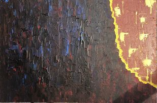 Stand Out Of The Crowd by Swati Goel, Abstract Painting, Acrylic on Canvas, Masala color