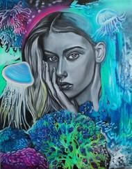 The Muse Digital Print by Veronika Primas,Expressionism