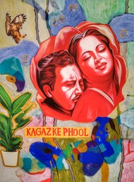 Humour by Himanshu Lodwal, Pop Art Painting, Acrylic on Canvas, Quicksand color