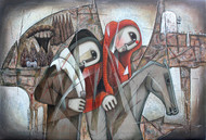 The Journey-8 by NAGESWARA RAO, Expressionism Painting, Oil on Canvas,