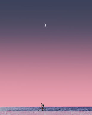 MarineDrive by adnan., Digital Digital Art, Digital Print on Paper, Oriental Pink color