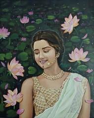 Radha Digital Print by Madhu Singh,Expressionism