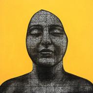 The face   24'' 24'' acrylic on canvas %28 nijesh mohan %29