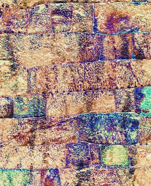 Wall Tones Digital Print by M. Shafiq,Abstract