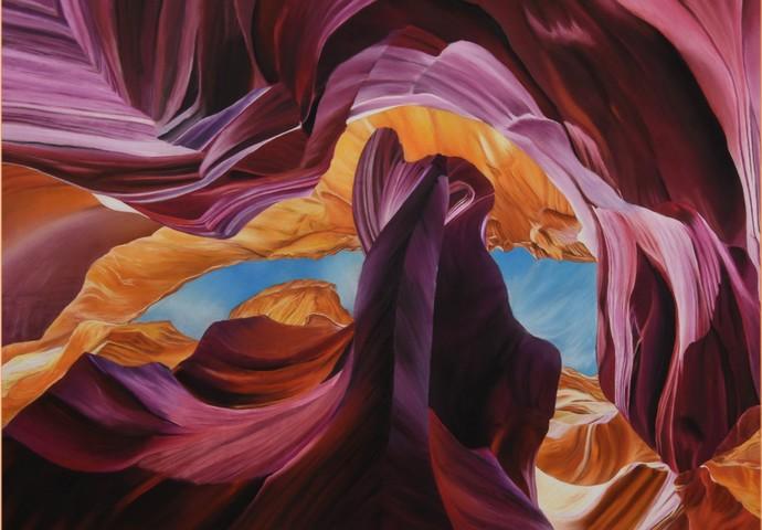 Canyon X Digital Print by Mayank Daga,Impressionism
