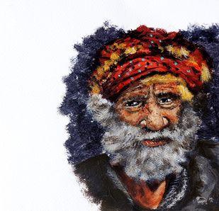 Jai Singh by Hrishikesh Belgudri, Impressionism Painting, Acrylic on Paper, Thunder color