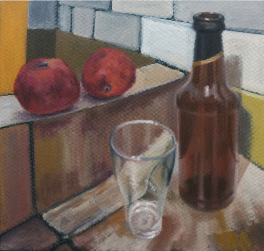 Drunken Fruits by Hans Shinde, Expressionism Painting, Oil on Canvas, Kabul color