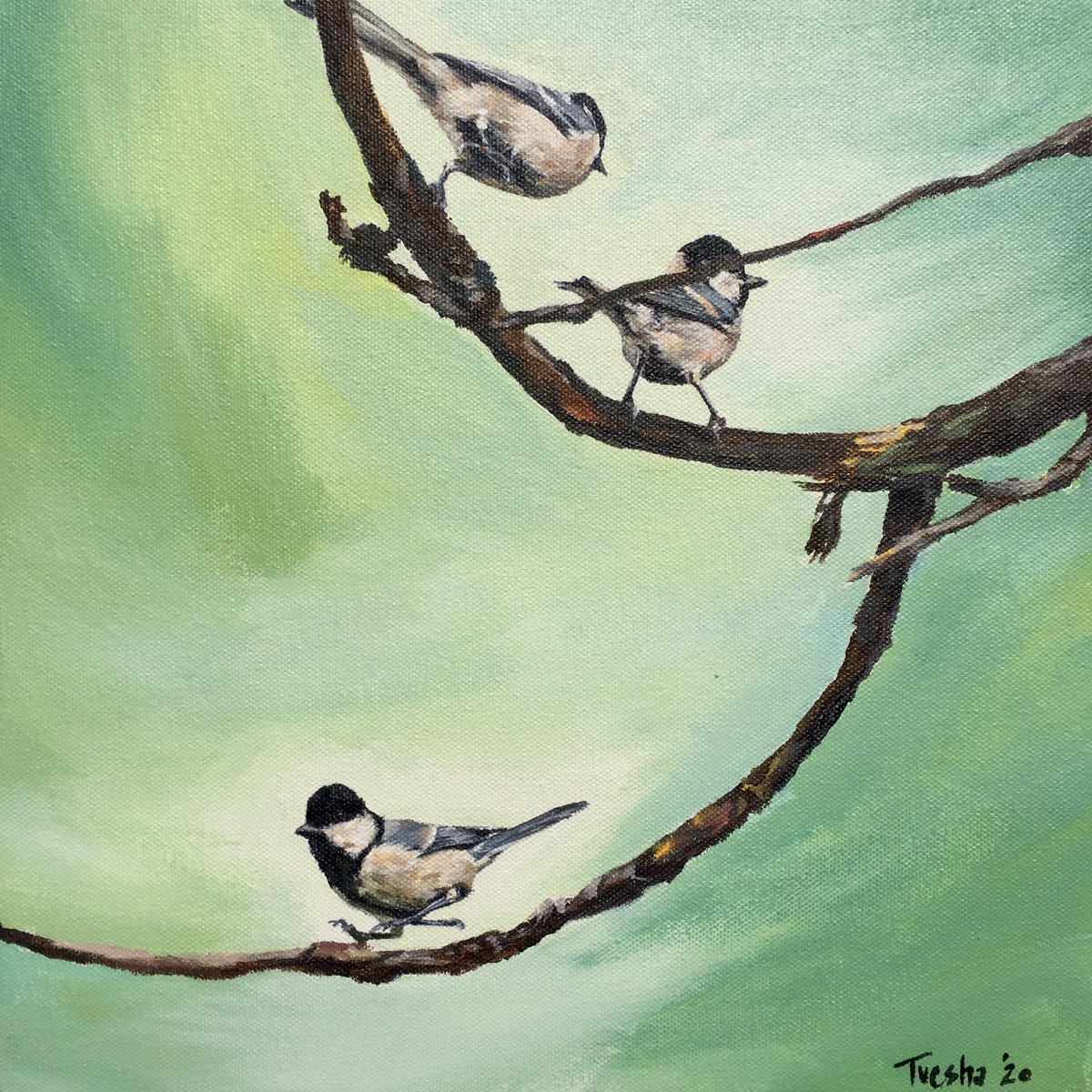 happy little hops by Tvesha Singh, Expressionism Painting, Acrylic on Canvas, Norway color