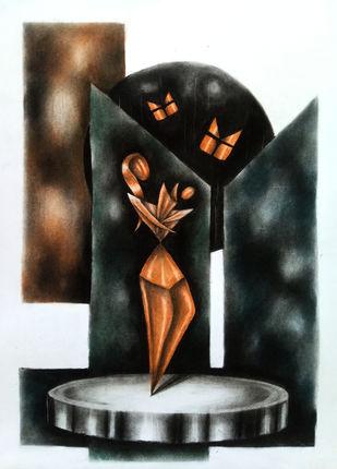 Mother and child Digital Print by Sohel Reja,Geometrical