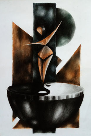 yin and yang Digital Print by Sohel Reja,Geometrical