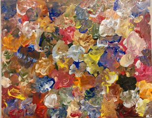 Dreamy Strokes by Sindhu SN, Abstract Painting, Acrylic on Canvas, Dirt color