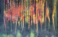 Waqfa by Geeta Vadhera, Abstract Painting, Oil on Canvas, Mako color