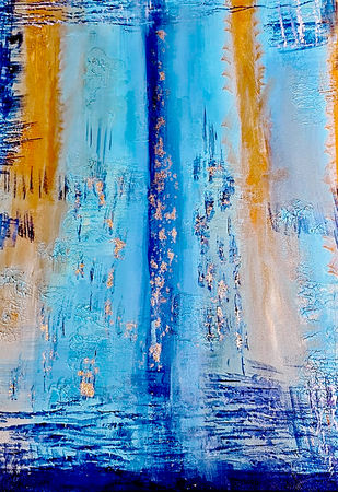 Jovial by Poornima Dayal, Abstract Painting, Acrylic on Canvas, Half Baked color