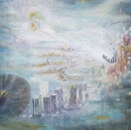 See the True Bliss by Manisha Pandey Mishra, Impressionism Painting, Mixed Media on Canvas, Loblolly color
