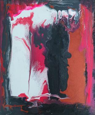 2 by Tasneem A Bharmal, Abstract Painting, Acrylic on Canvas, Cadillac color