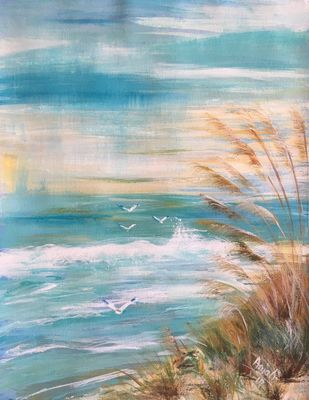 Seascape Digital Print by Anjali mittal,Abstract