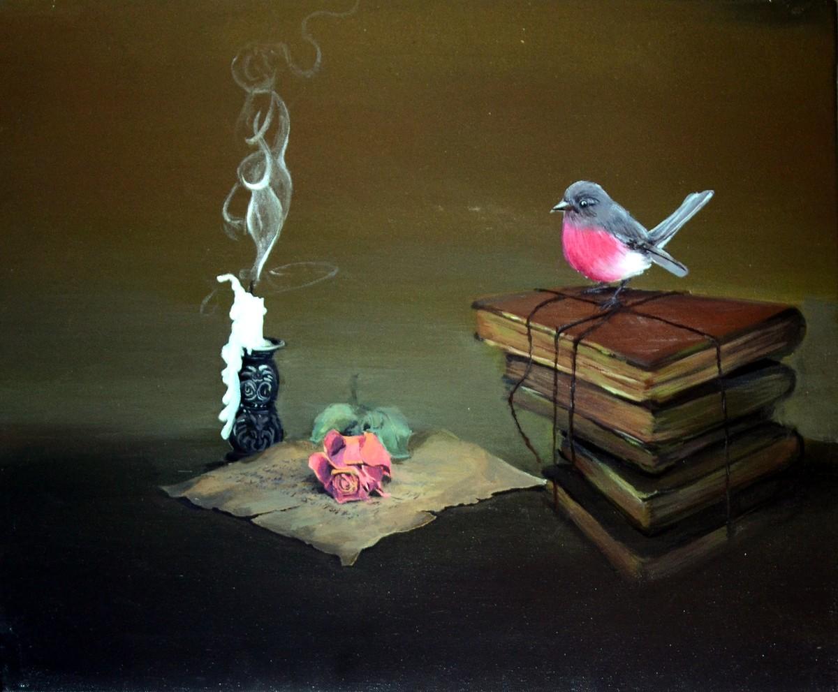 kingkar3 by KINGKAR SARKAR, Conceptual Painting, Acrylic on Canvas, Bistre color