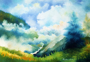 Fantasy -1 Digital Print by Prashant K Sarkar,Impressionism