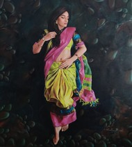 untitled by Shweta Rukme, Expressionism Painting, Acrylic on Canvas, Shark color