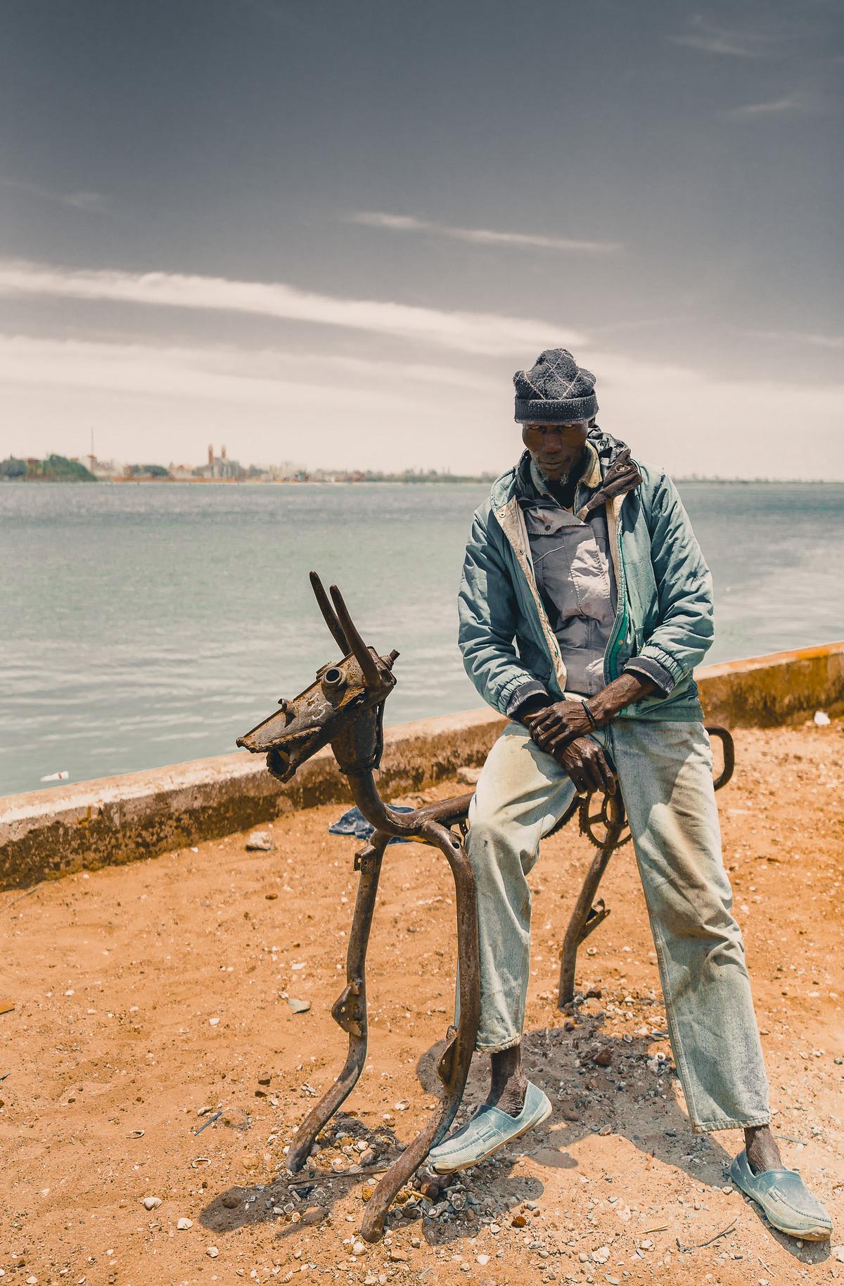 Metal rider, Senegal, Africa by SRIJAN NANDAN, Image Photography, Print on Paper,