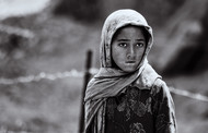 Portrait of a Tibetan Girl by SRIJAN NANDAN, Image Photography, CM Print on Canvas, Salt Box color