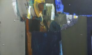shadow becomes reality-23 by Anil Gaikwad, Abstract Painting, Acrylic on Canvas, Cape Cod color