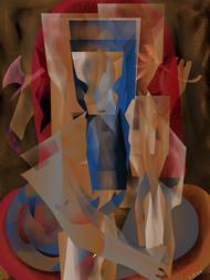 Jay Ganesha by Prakash Ambegaonkar , Digital Digital Art, Digital Print on Canvas, Quincy color