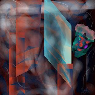 My Private Space by Prakash Ambegaonkar , Digital Digital Art, Digital Print on Canvas, Thunder color