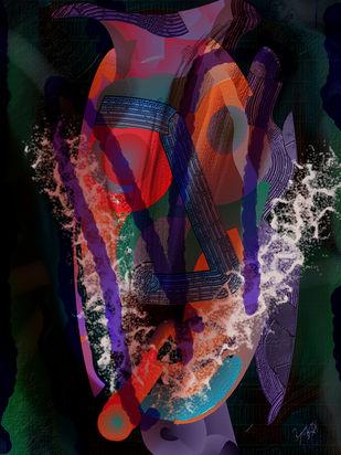 The smoker by Prakash Ambegaonkar , Digital Digital Art, Digital Print on Canvas, Matrix color