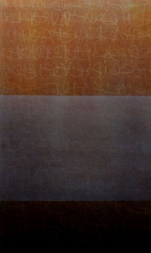 Hidden dimension by pradeep ahirwar, Abstract Painting, Mixed Media on Paper, Thunder color