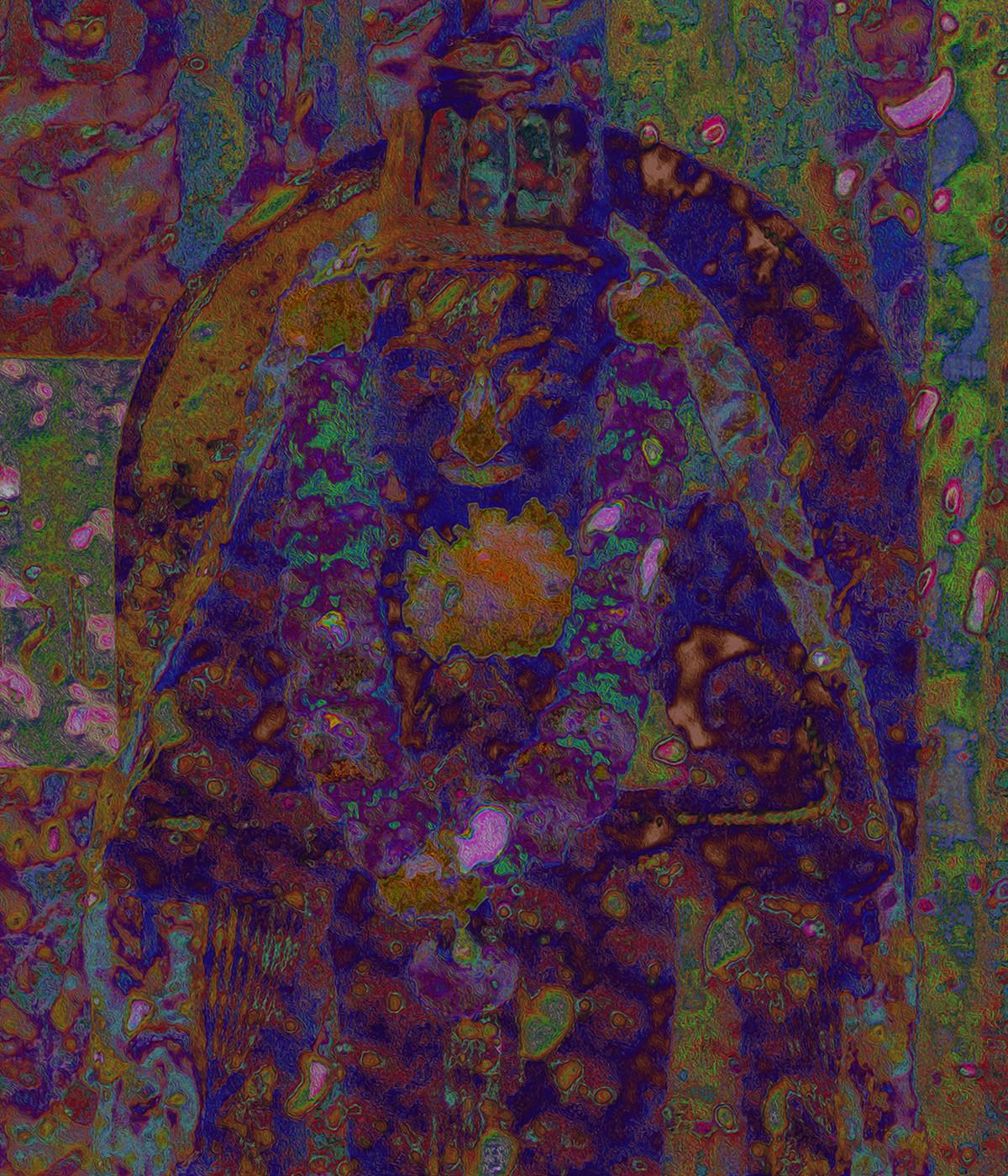 Integration 77 by Ayesha Taleyarkhan, Digital Photography, Digital Print on Canvas, Woody Brown color