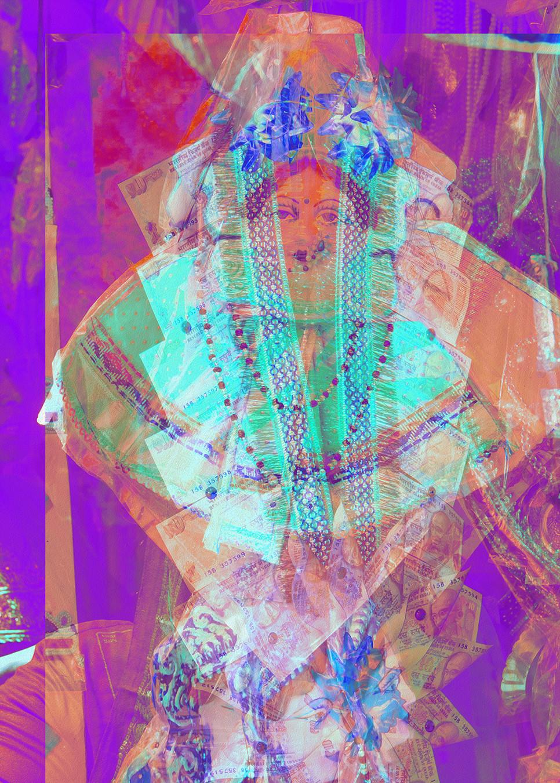 Integration 63 by Ayesha Taleyarkhan, Digital Digital Art, Digital Print on Canvas, Pink Pearl color