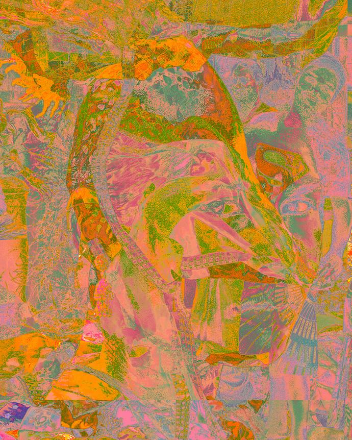 Integration 26 by Ayesha Taleyarkhan, Digital Digital Art, Digital Print on Canvas, Chocolate color
