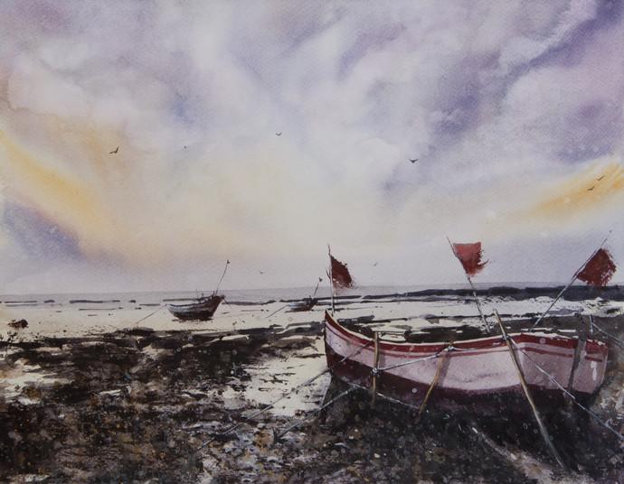 Fishing Harbour, Mumbai, India Digital Print by Mrutyunjaya Dash,Impressionism