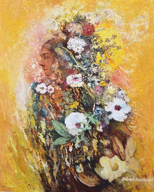 sunshine by Debarati Roy Saha, Impressionism Painting, Oil on Canvas, Sundance color